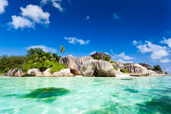 Source d'argent beach. Located in seychelles Stock Photography