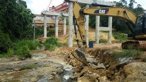 Source d'eau de nettoyage près des chantiers de construction photographie stock libre de droits