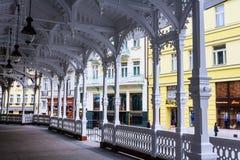 Source d'eau minérale de Charles IV Karlovy varient bohemia photographie stock libre de droits
