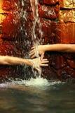 Source d'eau thermique pour la santé Image libre de droits