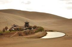 Source dans le désert Images libres de droits