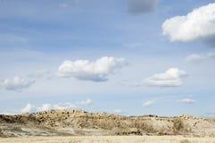 Source dans le désert Photographie stock
