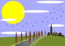 Source dans le village illustration libre de droits