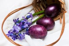 source de fleurs d'oeufs de pâques Images libres de droits