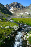 source de fleuve de montagne Image libre de droits