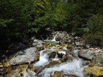 Source de rivière de Soca Images libres de droits