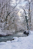 Source du Lison in winter Royalty Free Stock Photo