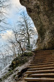 Source du Lison in winter Royalty Free Stock Image