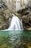 Source du monde de cascade de rivière Images libres de droits