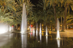 Source of Elche in Spain. Royalty Free Stock Photos