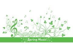 Source florale et musique Photos stock