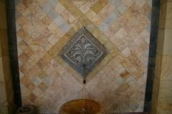 Source of hot mineral water. Resort Jermuk, Armenia stock image