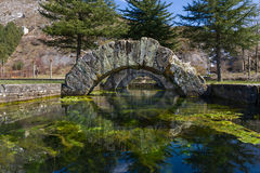 The Source of La Reana in Palencia Spain. Tamarica spring or source that has the peculiarity of Welling, or stop and dry, randomly and without explanation. From royalty free stock photography