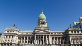 The National Congress in Buenos Aires, Argentina. Source and monumental complex of Congress Square. in Buenos Aires, Argentina Stock Images