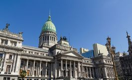The National Congress in Buenos Aires, Argentina. Source and monumental complex of Congress Square. in Buenos Aires, Argentina Stock Photos