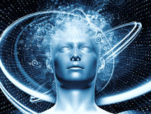 Source Of Digital Thoughts Stock Image