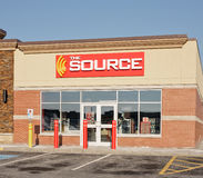 The Source Outlet. ELMSDALE, CANADA - APRIL 01, 2015: The Source retail outlet. The Source, previously Radioshack and The Source by Circuit City, is a retailer Royalty Free Stock Photo