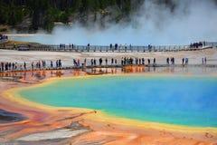 Source prismatique grande, stationnement national de Yellowstone Photos stock