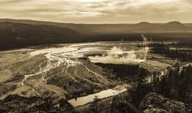 Source prismatique grande, Yellowstone Photo stock