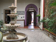 Source of quarry, in the courtyard of a house in the centre of the city Morelia, Michoacan, Mexico. Stock Photography