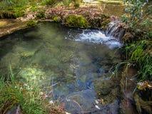 Source of the river Cuervo, Cuenca, Castilla la Mancha, Spain. Landscape at source of the river Cuervo, Cuenca, Castilla la Mancha, Spain Royalty Free Stock Image