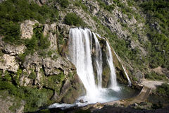 Source of river Krka with waterfall Stock Photo