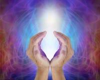 Source sacrée légère divine du tout ce qui est Image stock