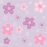source sans joint de configuration de fleurs Image stock