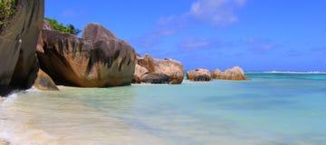 Source Seychelles d'Argent d'Anse de plage Image libre de droits