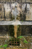 Source and Sink. In a street in a village in northern Spain Royalty Free Stock Photo