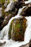 Source of Soca river. Soca valley of wonderful colours, full of waterfalls, pools, ravines and canyons stock photo