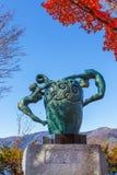 Source Statue at lake Kawaguchiko Royalty Free Stock Images