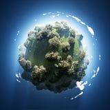 Source sur la petite planète verte illustration de vecteur