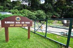 Source thermale étudiante à fond, Sabah, Malaisie Images libres de droits
