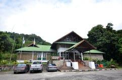 Source thermale étudiante à fond, Sabah, Malaisie Photo stock