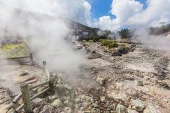 Source thermale d'Unzen et Unzen Jigoku à Nagasaki, Kyushu image libre de droits