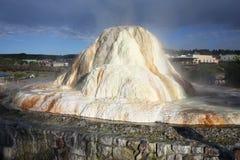 Source thermale dans Pagosa Springs, le Colorado, Etats-Unis Images stock