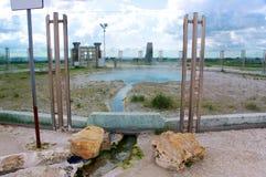 Source thermale de Bullicame près de Viterbe Italie photo stock