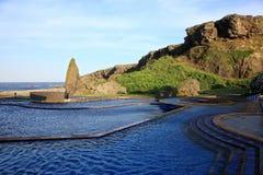 Source thermale de Jhaorih, île verte, Taïwan Images libres de droits