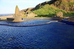 Source thermale de Jhaorih, île verte, Taïwan Photo libre de droits