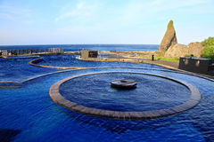 Source thermale de Jhaorih, île verte, Taïwan Photos stock
