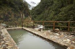 Source thermale de jungle Images libres de droits