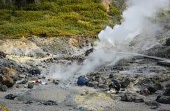 Source thermale de Tamagawa dans Akita, Japon photographie stock libre de droits