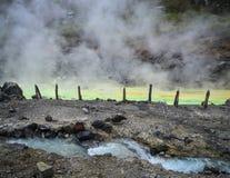 Source thermale de Tamagawa dans Akita, Japon image stock