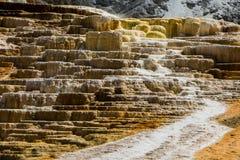 Source thermale gigantesque Images libres de droits