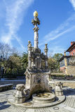 Source of the three pipes in Comillas Cantabria Spain Stock Photography