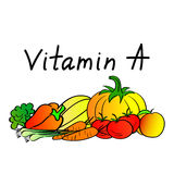 Source of vitamin A vegetables Stock Photography