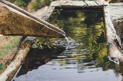 Water source in the canyon stock photography
