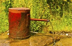 Source of water wells Stock Images