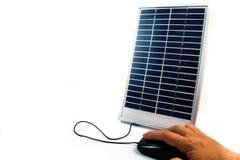 Sources d'énergie de substitution en ligne Photographie stock libre de droits